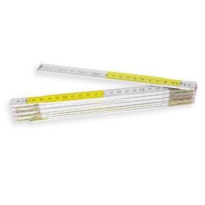 Doppio metro bianco / giallo